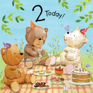 TOT2  Age 2 Birthday Card